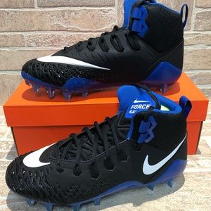 Nike Force Savage Pro Cleats Black Blue